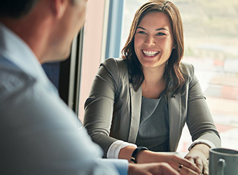 smiling female financial professional