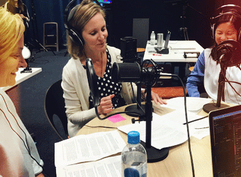 LPL Financial employees recording a podcast